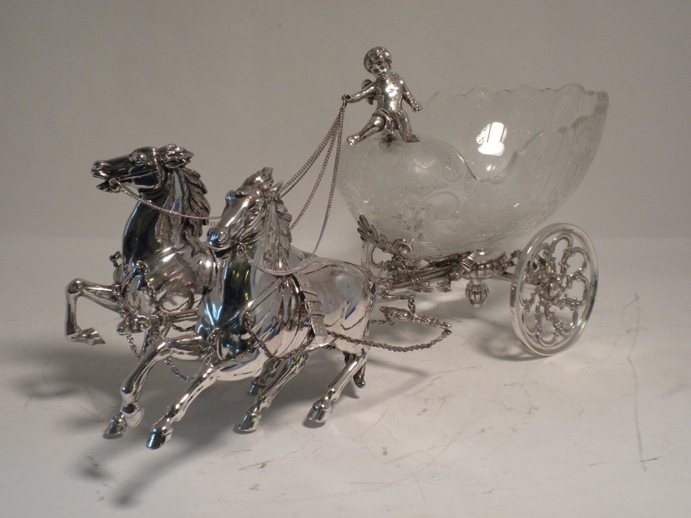 Sterling Silver Victorian figural bowl holder-2