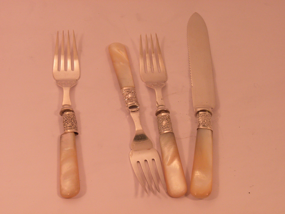 Pearl Handles With Sterling Ferrells-1