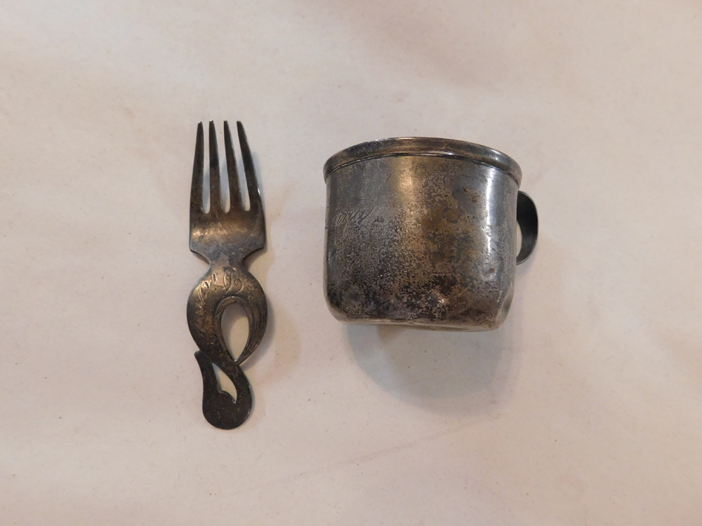 Sterling Baby Cup And Fork Restoration-1