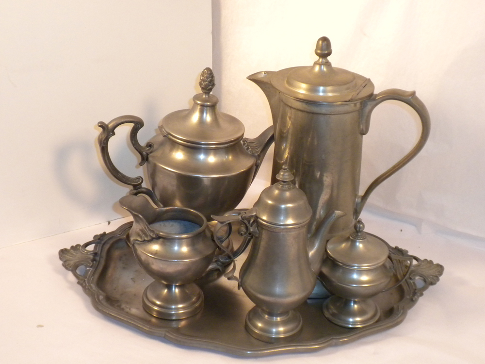 Pewter Tea Set-1
